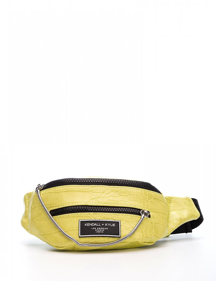 Ashlee fanny pack lime green croco
