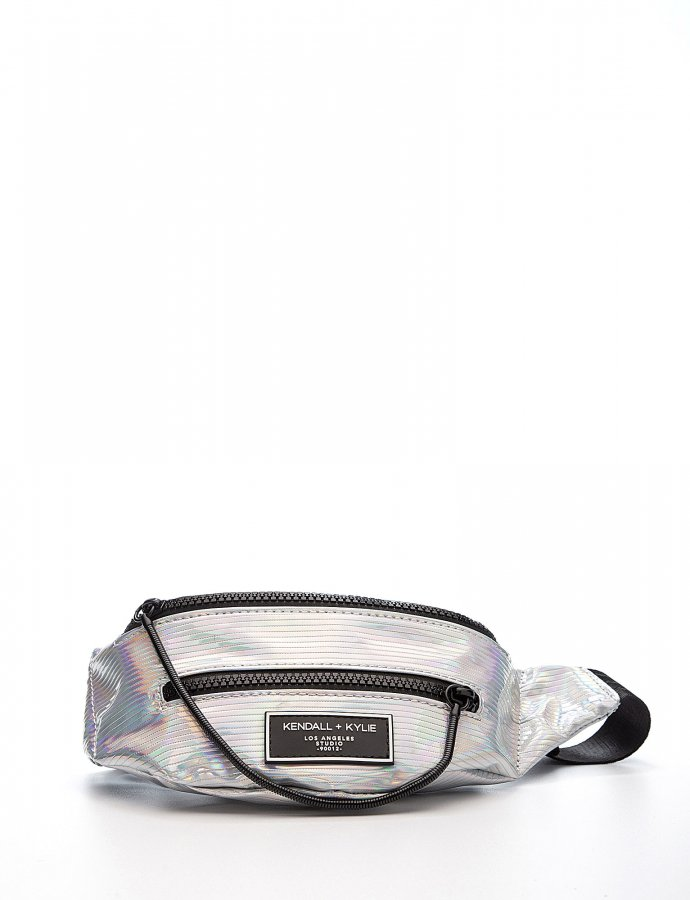Ashlee fanny pack iridescent striped
