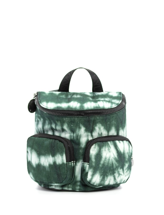 Charlize small backpack navy tie dye canvas