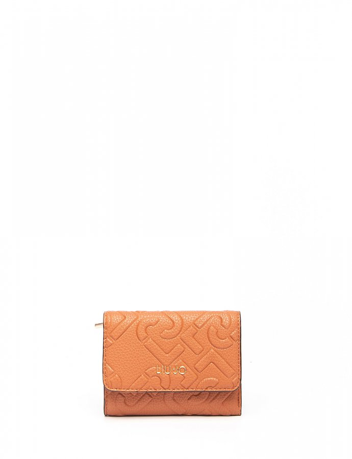 Wallet with logo marsala