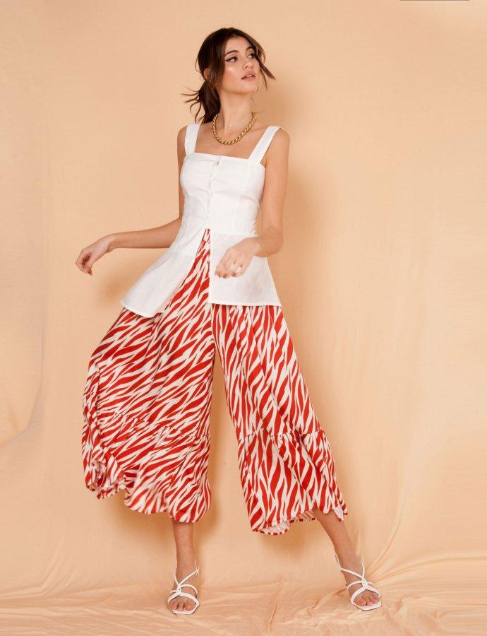 Trevi zebra terracotta pants