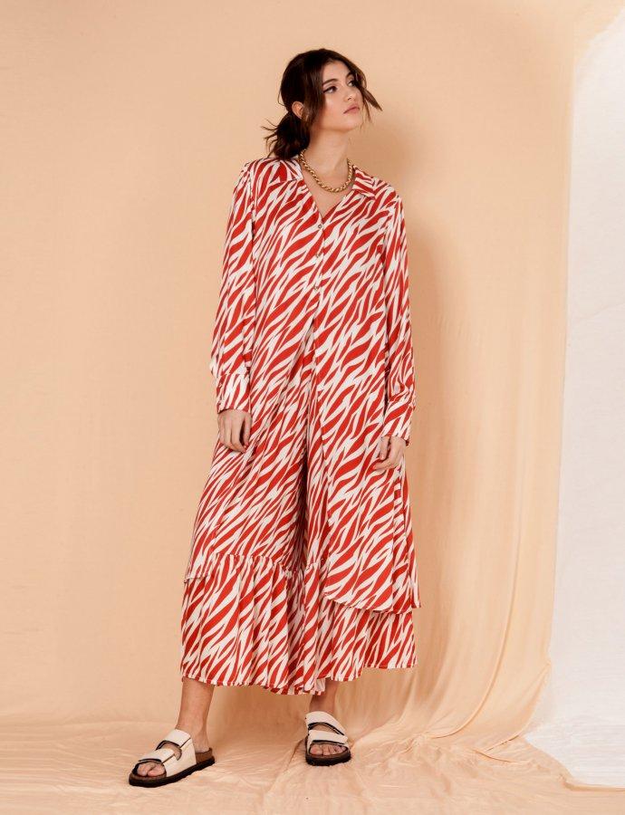 Camellia zebra long shirt