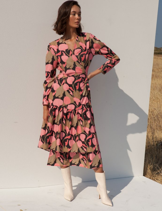 Flory pink floral dress