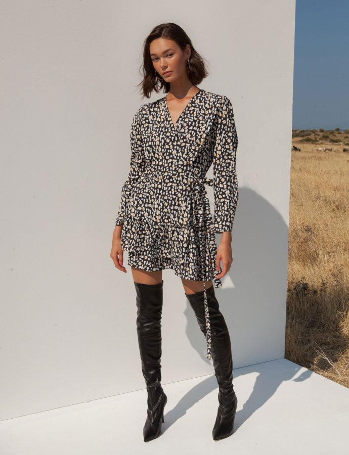 Daria leopard dress