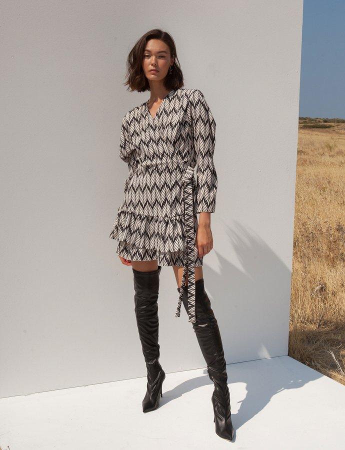Daria black & white dress