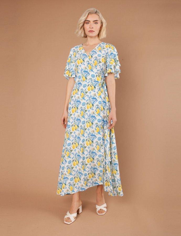 Vietri blue lemons dress