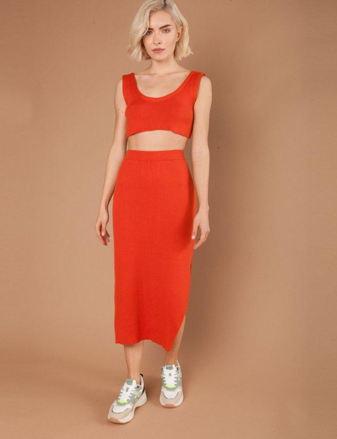 Viola terracotta skirt