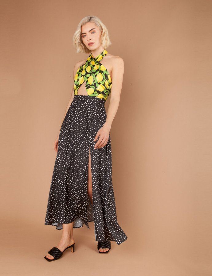 Salsa black/lemons dress