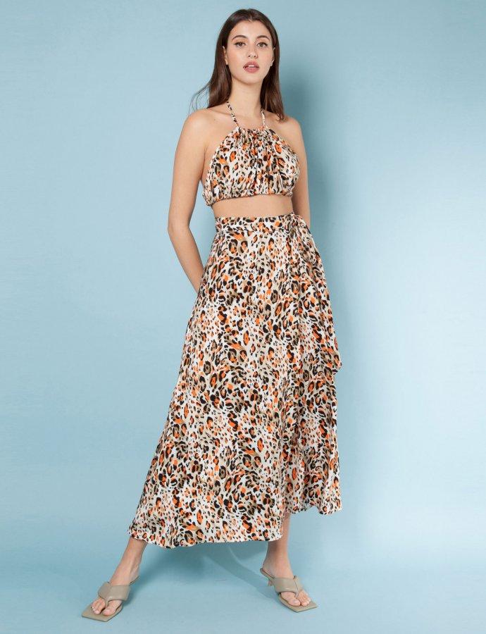 Maddalena leopar skirt