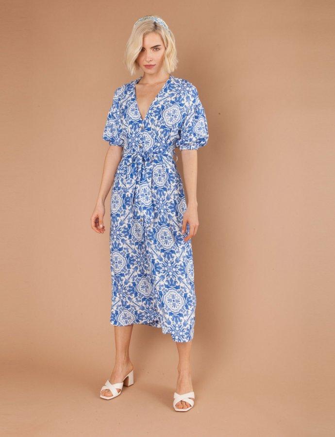 Puglia blue dress