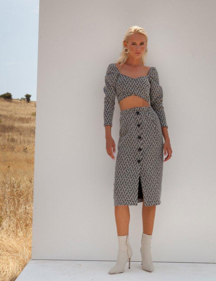 Melanie B&W skirt