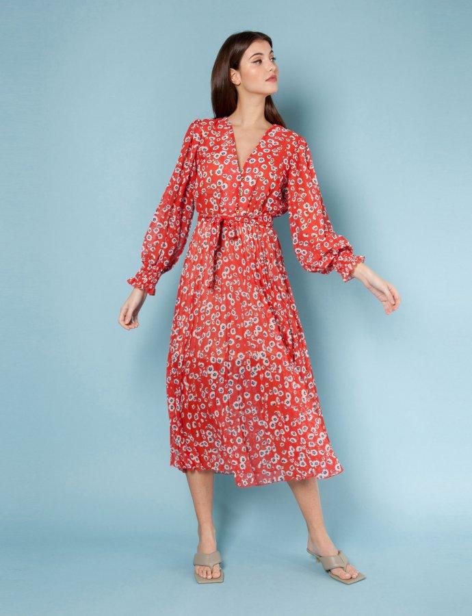 Fiori red dress