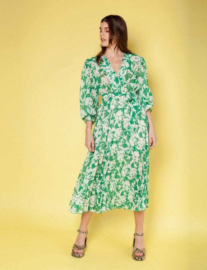 Fiori green dress