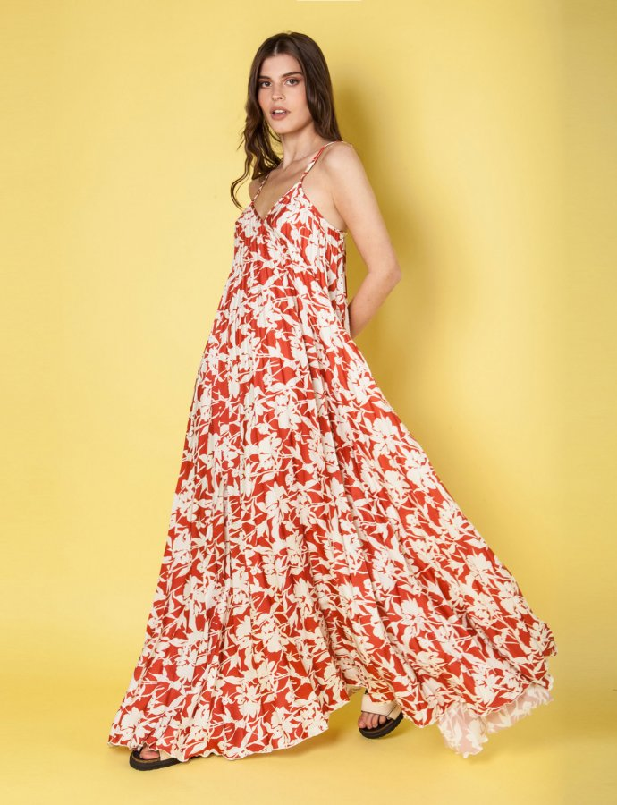 Melodia terracotta dress