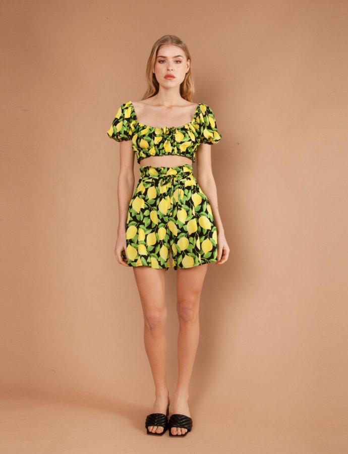 Fantasia lemon shorts