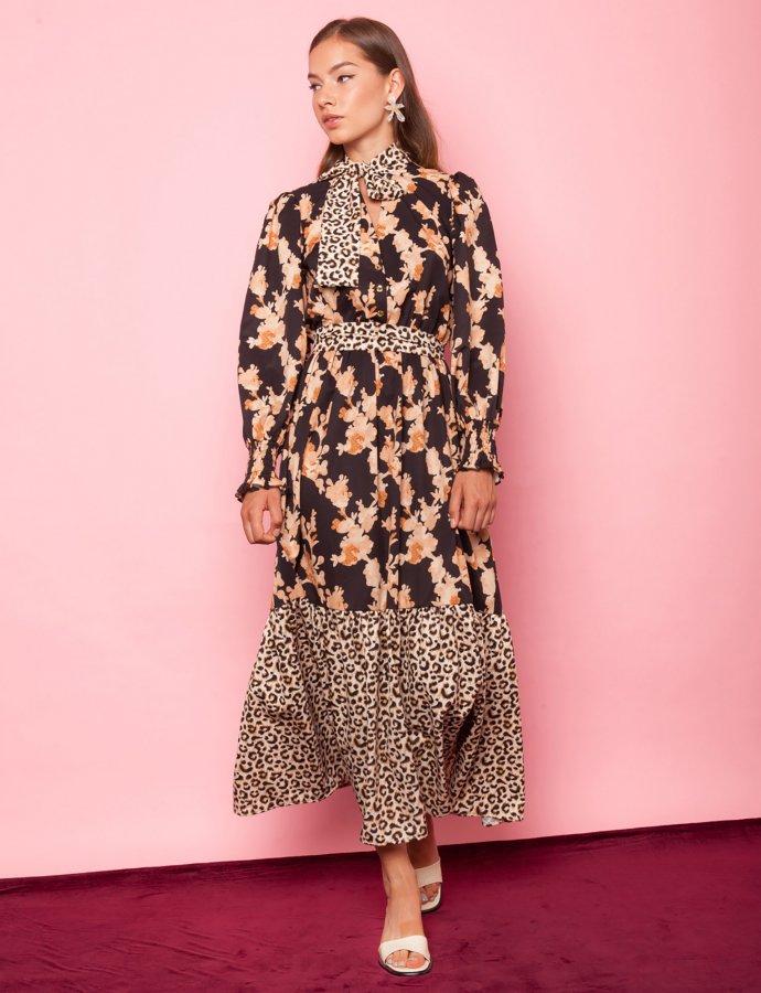 Aroma animal print dress