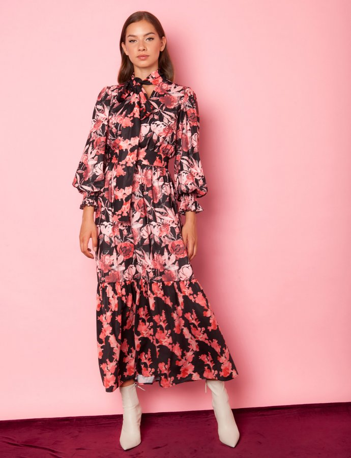 Aroma pink floral dress