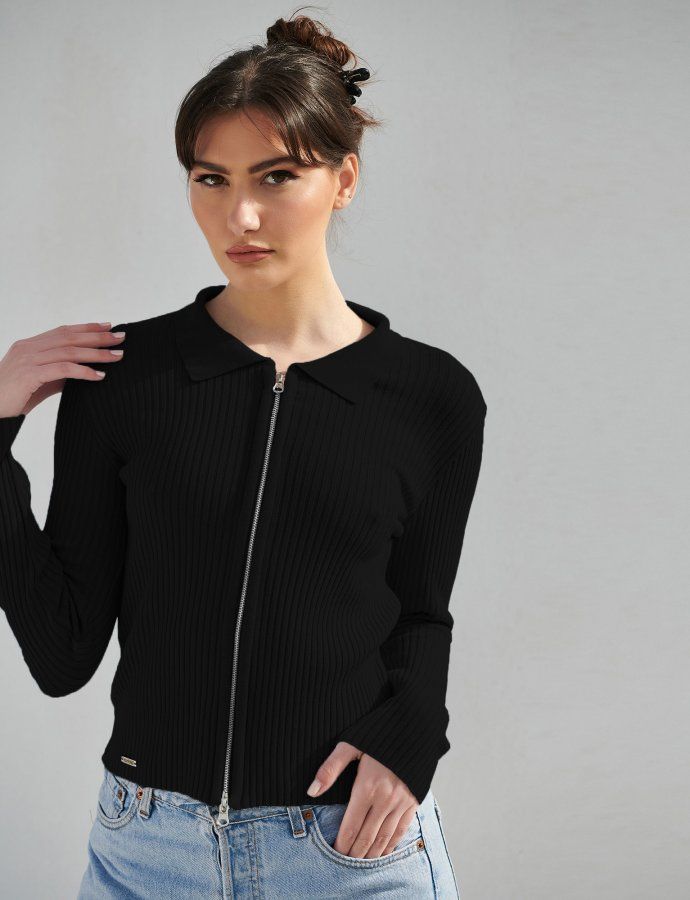 Combos S8 – Black polo cardigan