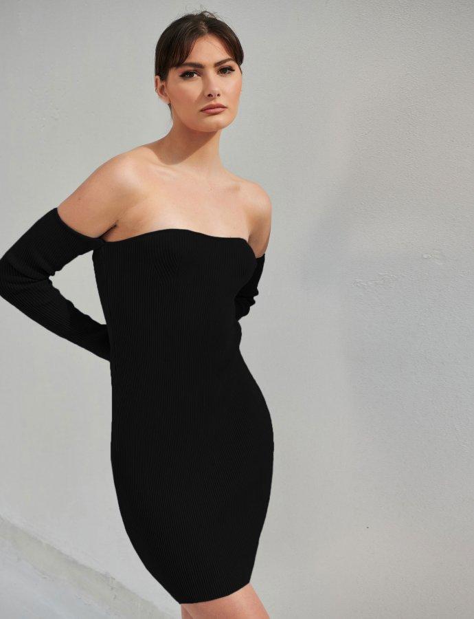 Combos S13 – Black off-shoulder dress
