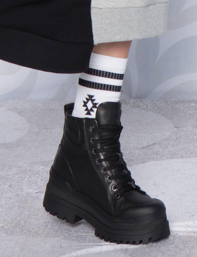 White chaka socks
