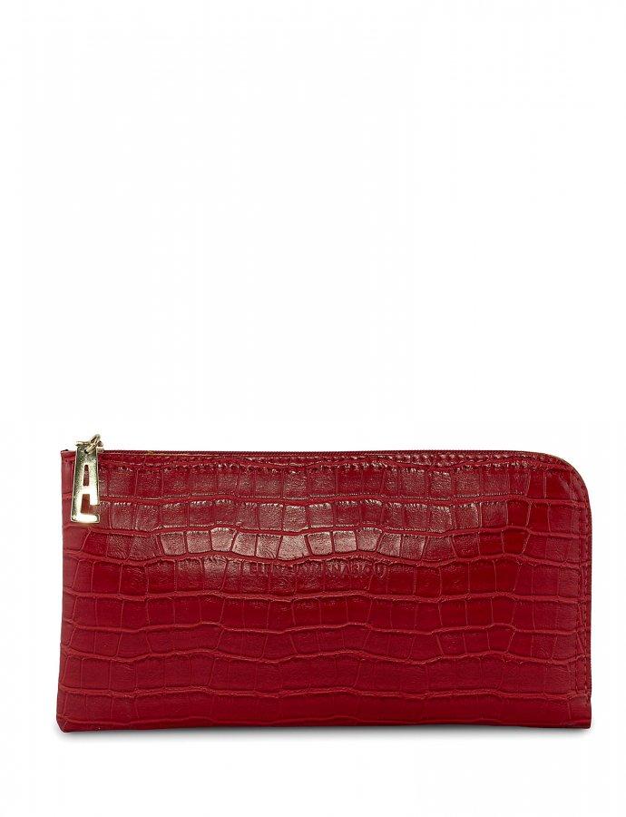 Clutch bag red croco