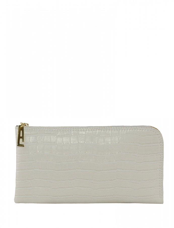 Clutch bag white croco