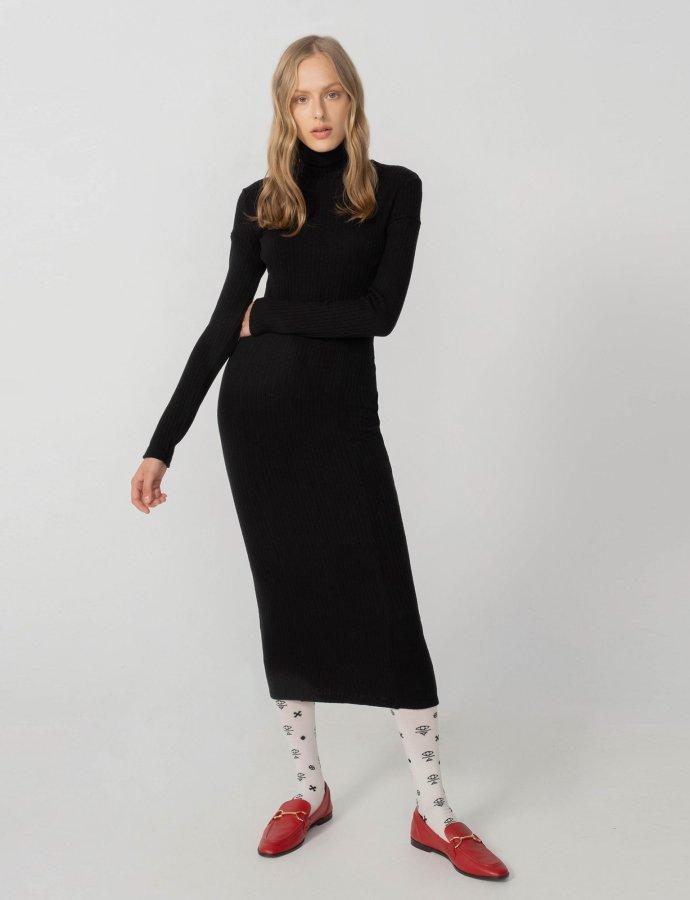 Space of grace knit dress black