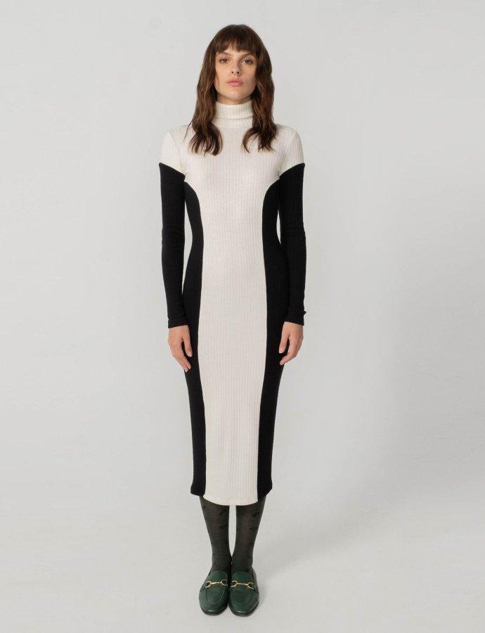 Space of grace knit dress B&W