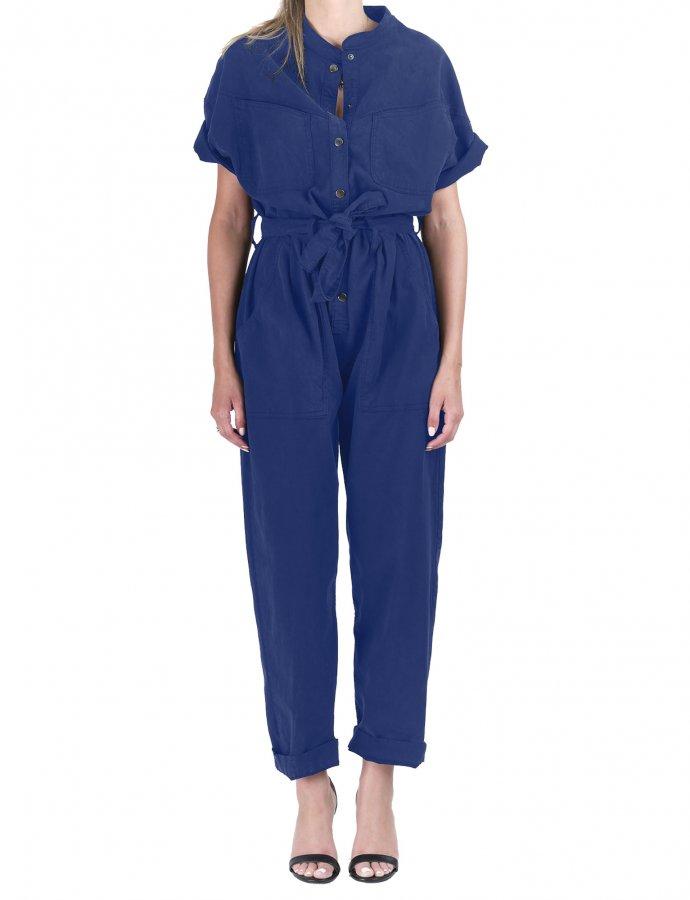 Frida nightime blue denim overalls