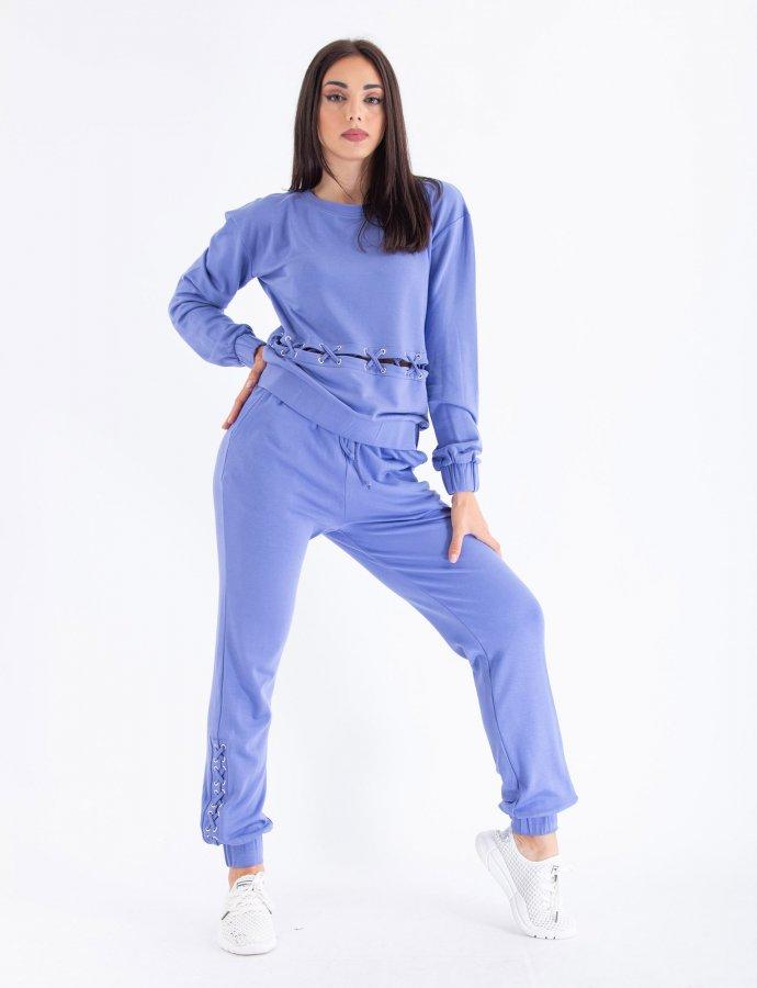 Lace up jogger pants