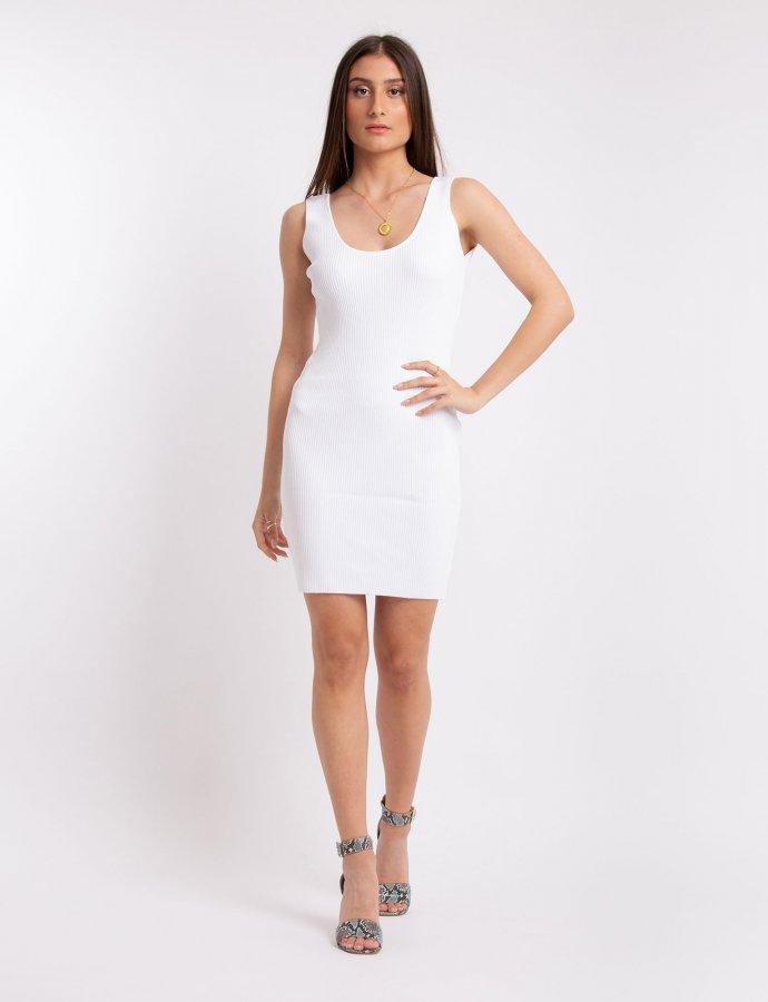 Combos S22 – White open back mini dress
