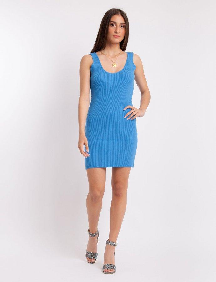 Combos S22 – Blue open back mini dress