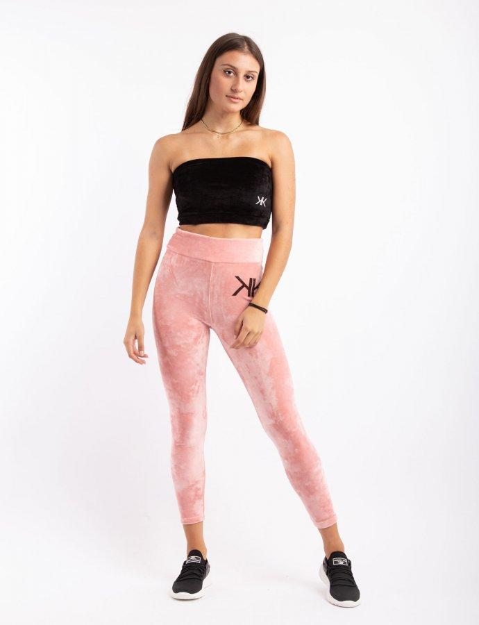 Active velvet leggings dusty pink