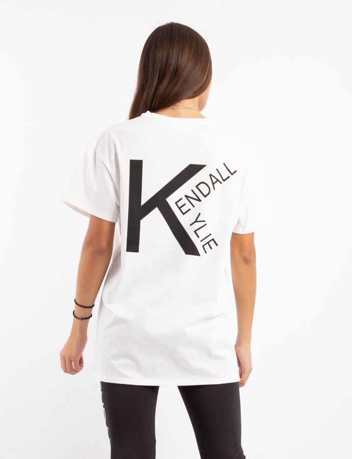 Active logo V4 longfit t-shirt off-white