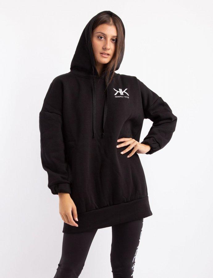 Active oversized hoody sweater dress black