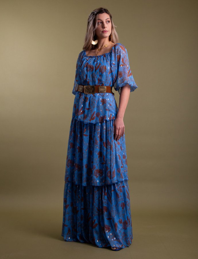 Leticia blue dress