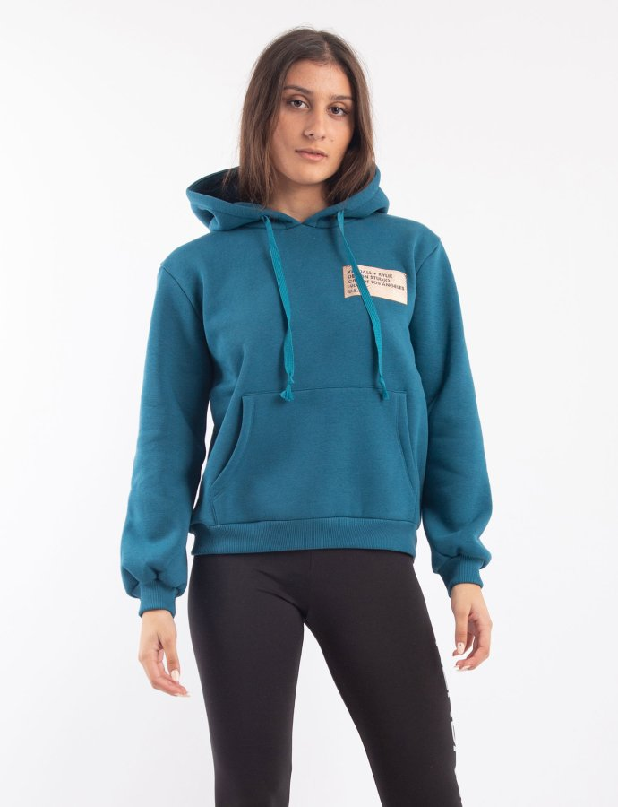 Active hoody sweater classic blue