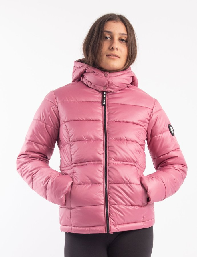 Camille padded jacket washed berry