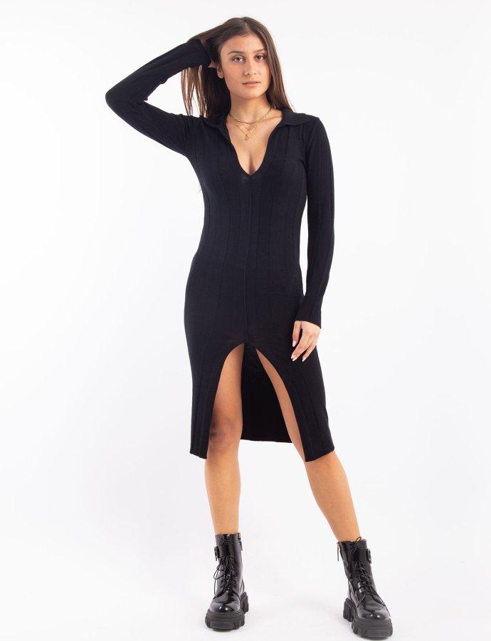 W-200 polo dress black