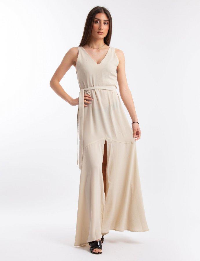 Shades of Sahara beige dress