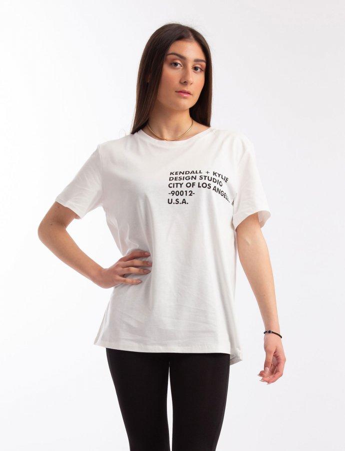 Longfit logo t-shirt white