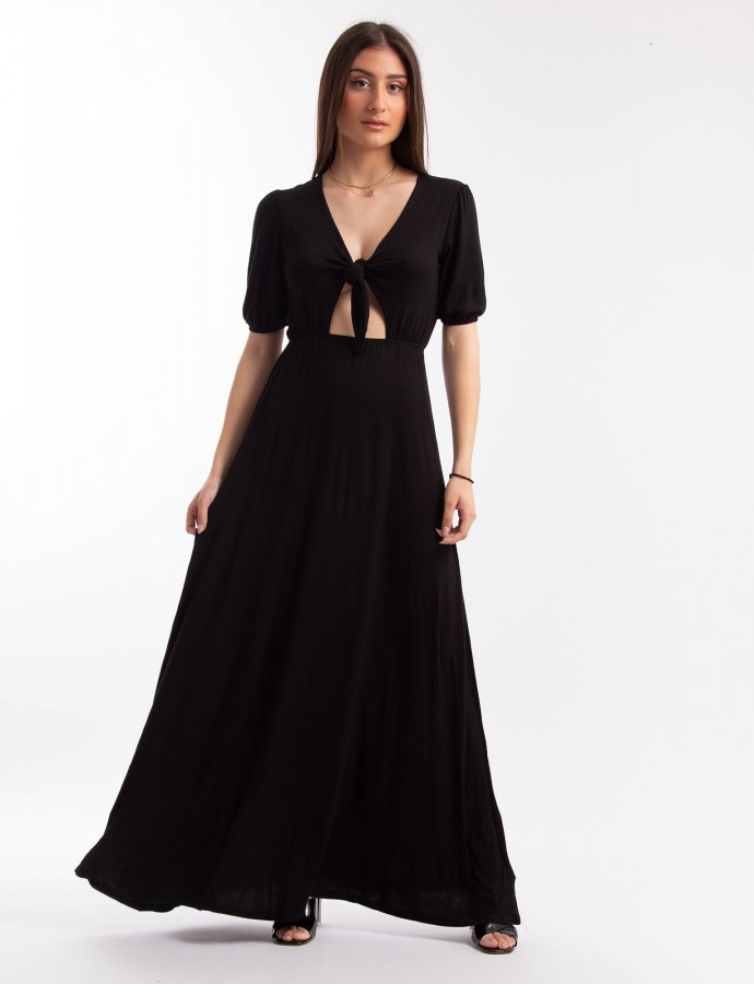 Front tie maxi dress