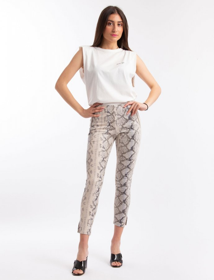 Leggings with notched cuff
