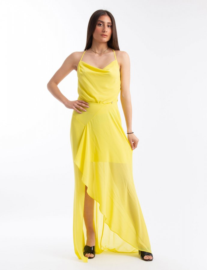 Lemon drop maxi dress