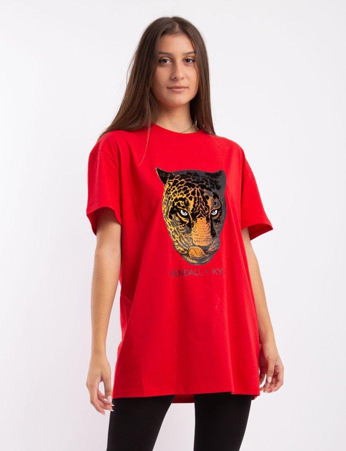 Active longfit t-shirt tiger red