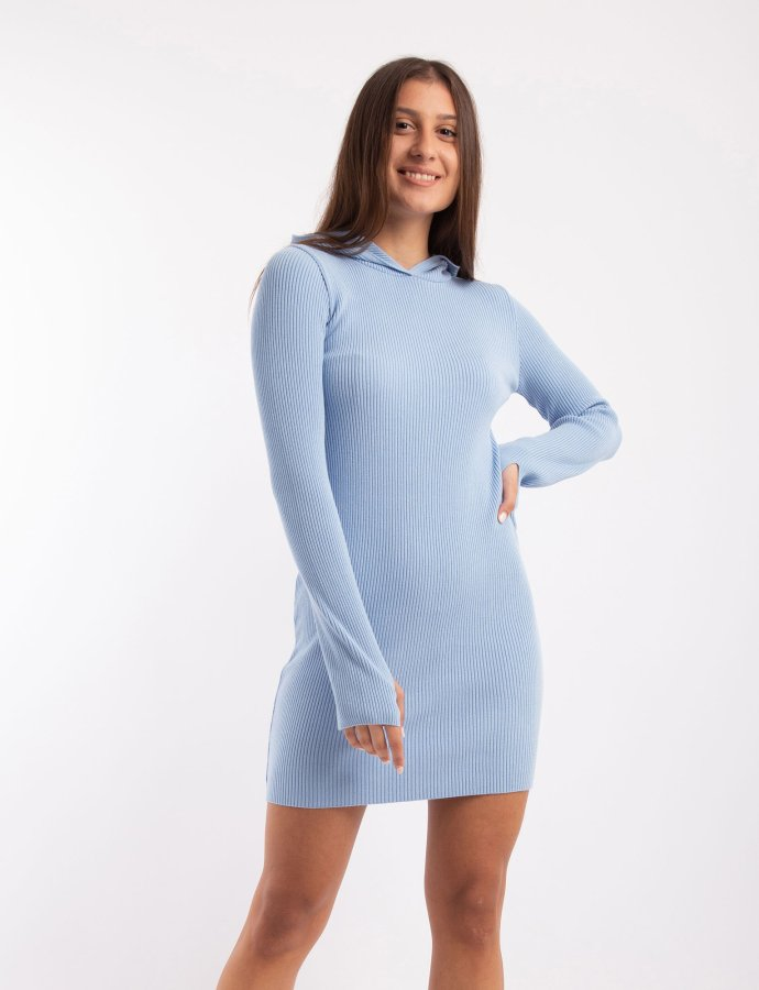 Combos W100 – Light blue hooded dress