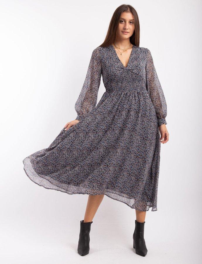 Clara long paisley dress