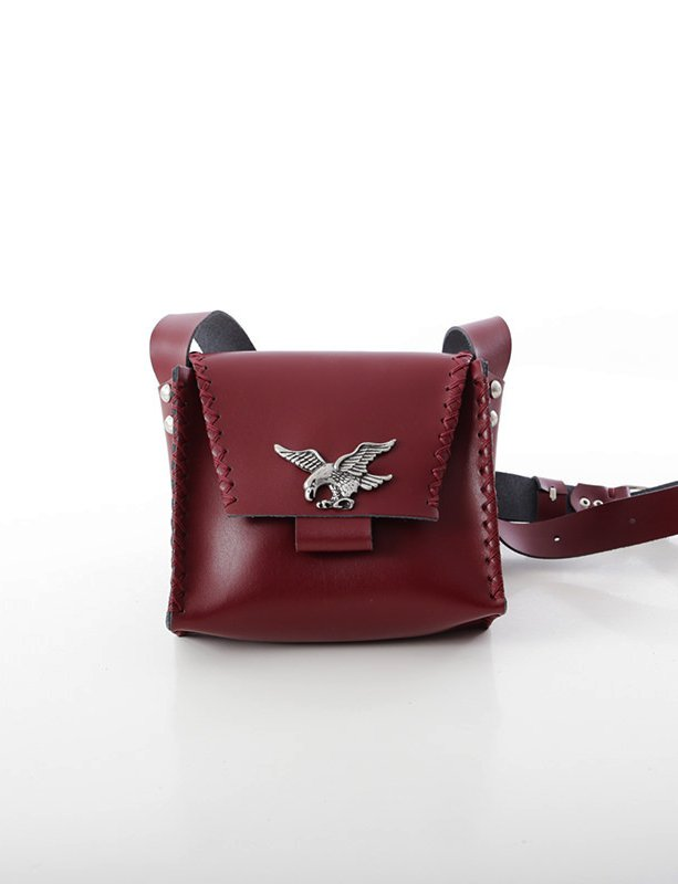 Birds set free burgundy bag