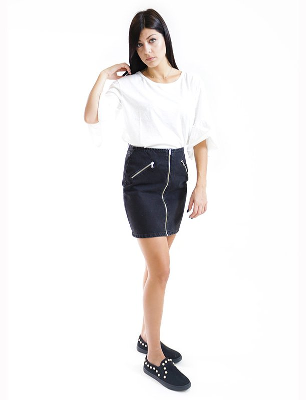 Arya black skirt