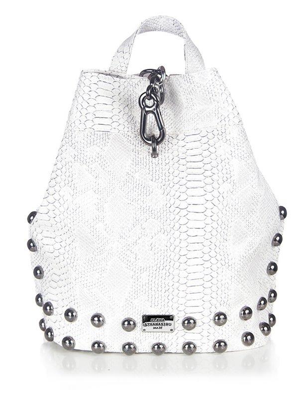 Backpack white snake